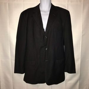 Pronto Uomo Black Pinstripe Suit Jacket 42 Regular